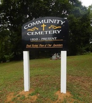 *COMMUNITY CEMETERY, SIGN - Shelby County, Tennessee | SIGN *COMMUNITY CEMETERY - Tennessee Gravestone Photos