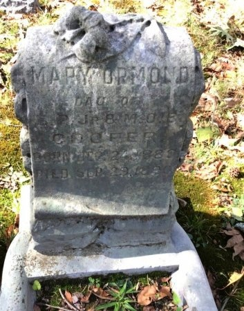 COOPER, MARY ORMOND - Shelby County, Tennessee | MARY ORMOND COOPER - Tennessee Gravestone Photos