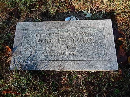 COX, ROBBIE D - Shelby County, Tennessee | ROBBIE D COX - Tennessee Gravestone Photos