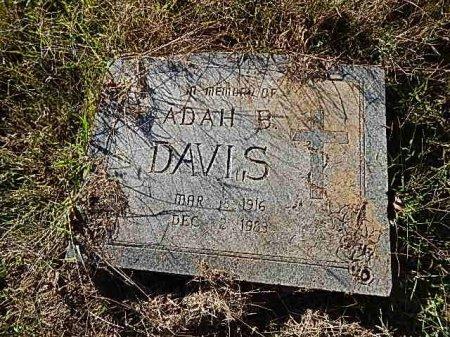 WEATHERHOLT DAVIS, ADAH B - Shelby County, Tennessee | ADAH B WEATHERHOLT DAVIS - Tennessee Gravestone Photos