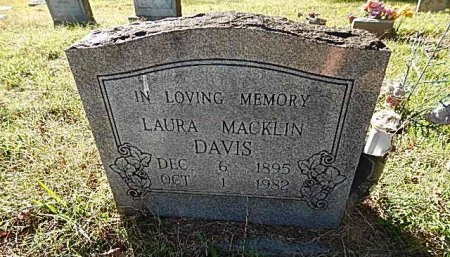 DAVIS, LAURA - Shelby County, Tennessee | LAURA DAVIS - Tennessee Gravestone Photos