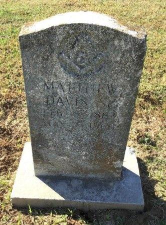 DAVIS, MATTHEW - Shelby County, Tennessee   MATTHEW DAVIS - Tennessee Gravestone Photos