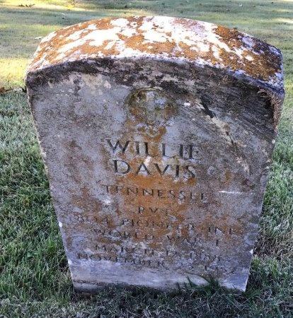 DAVIS (VETERAN WWI), WILLIE - Shelby County, Tennessee   WILLIE DAVIS (VETERAN WWI) - Tennessee Gravestone Photos