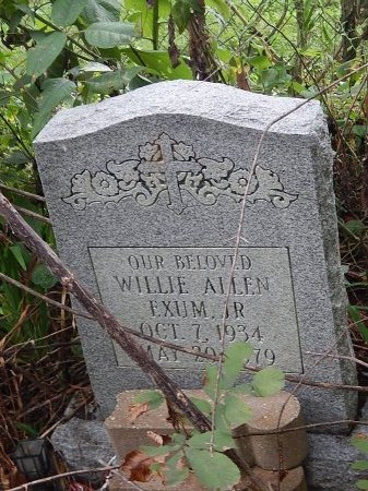 EXUM JR, WILLIE ALLEN - Shelby County, Tennessee | WILLIE ALLEN EXUM JR - Tennessee Gravestone Photos