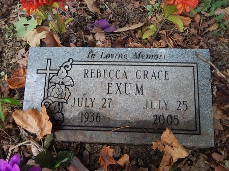 EXUM, REBECCA GRACE - Shelby County, Tennessee | REBECCA GRACE EXUM - Tennessee Gravestone Photos
