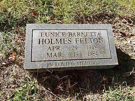 HOLMES FELTON, EUNICE BARNETTA - Shelby County, Tennessee | EUNICE BARNETTA HOLMES FELTON - Tennessee Gravestone Photos