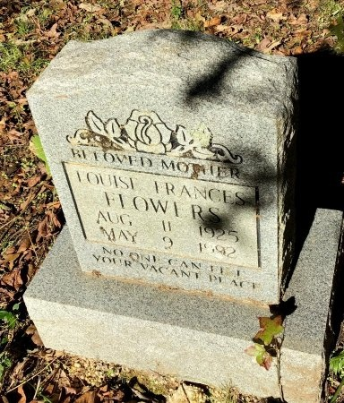 FLOWERS, LOUISE FRANCES - Shelby County, Tennessee | LOUISE FRANCES FLOWERS - Tennessee Gravestone Photos