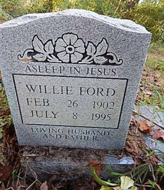 FORD, WILLIE - Shelby County, Tennessee | WILLIE FORD - Tennessee Gravestone Photos