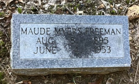 MYERS FREEMAN, MAUDE - Shelby County, Tennessee | MAUDE MYERS FREEMAN - Tennessee Gravestone Photos