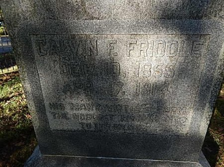 FRIDDLE, CALVIN F - Shelby County, Tennessee | CALVIN F FRIDDLE - Tennessee Gravestone Photos