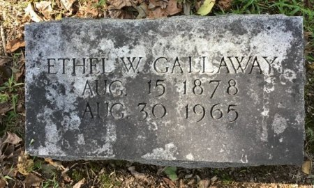 GALLAWAY, ETHEL W. - Shelby County, Tennessee | ETHEL W. GALLAWAY - Tennessee Gravestone Photos