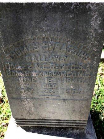 GALLAWAY (VETERAN CSA), THOMAS SPRAGGINS - Shelby County, Tennessee | THOMAS SPRAGGINS GALLAWAY (VETERAN CSA) - Tennessee Gravestone Photos