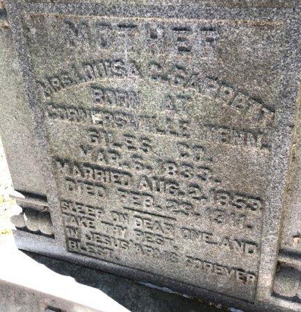 GARRETT, LOUISA C. (CLOSE UP) - Shelby County, Tennessee | LOUISA C. (CLOSE UP) GARRETT - Tennessee Gravestone Photos