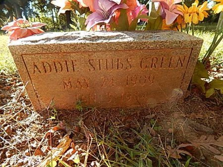 STUBS GREEN, ADDIE - Shelby County, Tennessee | ADDIE STUBS GREEN - Tennessee Gravestone Photos