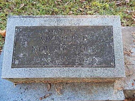 PARKER GRIFFITH, MYRTLE ELIZABETH - Shelby County, Tennessee | MYRTLE ELIZABETH PARKER GRIFFITH - Tennessee Gravestone Photos