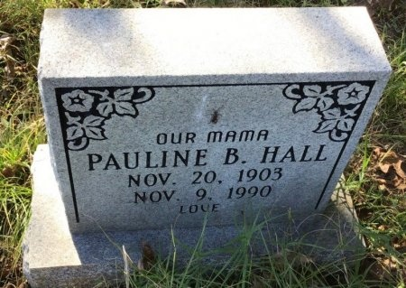 HALL, PAULINE B. - Shelby County, Tennessee | PAULINE B. HALL - Tennessee Gravestone Photos