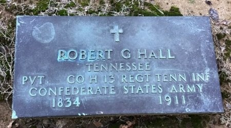 HALL (VETERAN CSA), ROBERT G - Shelby County, Tennessee | ROBERT G HALL (VETERAN CSA) - Tennessee Gravestone Photos
