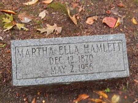 HAMLETT, MARTHA ELLA - Shelby County, Tennessee | MARTHA ELLA HAMLETT - Tennessee Gravestone Photos