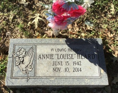 """HEARD, ANNIE """"LOUISE"""" - Shelby County, Tennessee 