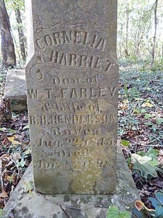 FARLEY HENDERSON, CORNELIA HARRIET - Shelby County, Tennessee | CORNELIA HARRIET FARLEY HENDERSON - Tennessee Gravestone Photos