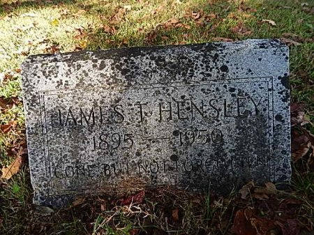 HENSLEY, JAMES THOMAS - Shelby County, Tennessee | JAMES THOMAS HENSLEY - Tennessee Gravestone Photos