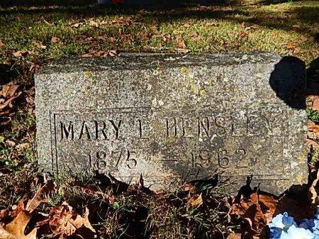 LANE HENSLEY, MARY LUETITIA - Shelby County, Tennessee | MARY LUETITIA LANE HENSLEY - Tennessee Gravestone Photos