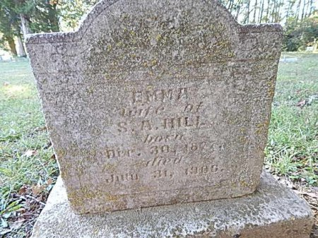 HILL, EMMA - Shelby County, Tennessee | EMMA HILL - Tennessee Gravestone Photos