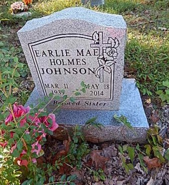 HOLMES JOHNSON, EARLIE MAE - Shelby County, Tennessee | EARLIE MAE HOLMES JOHNSON - Tennessee Gravestone Photos