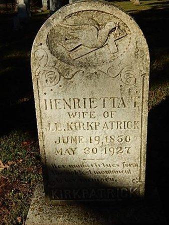 KIRKPATRICK, HENRIETTA T - Shelby County, Tennessee | HENRIETTA T KIRKPATRICK - Tennessee Gravestone Photos