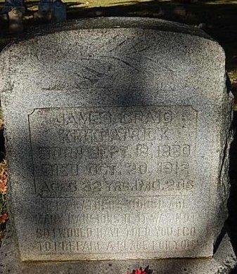 KIRKPATRICK, JAMES CRAIG - Shelby County, Tennessee | JAMES CRAIG KIRKPATRICK - Tennessee Gravestone Photos