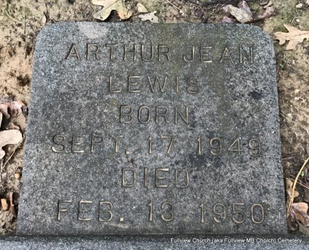 LEWIS, ARTHUR JEAN - Shelby County, Tennessee   ARTHUR JEAN LEWIS - Tennessee Gravestone Photos