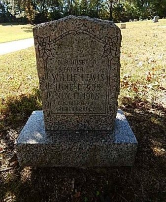 LEWIS, WILLIE - Shelby County, Tennessee | WILLIE LEWIS - Tennessee Gravestone Photos