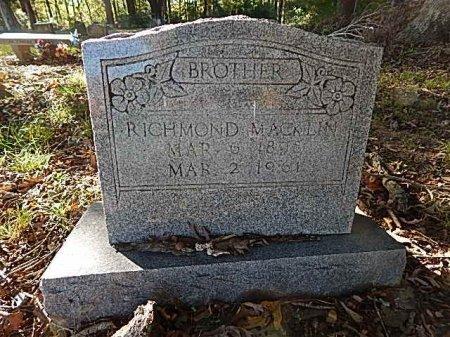 MACKLIN, RICHMOND - Shelby County, Tennessee | RICHMOND MACKLIN - Tennessee Gravestone Photos