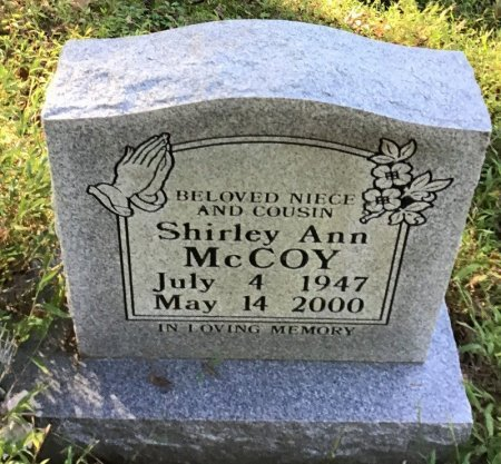 MCCOY, SHIRLEY ANN - Shelby County, Tennessee   SHIRLEY ANN MCCOY - Tennessee Gravestone Photos