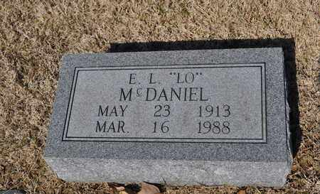 MCDANIEL, E.L. - Shelby County, Tennessee   E.L. MCDANIEL - Tennessee Gravestone Photos