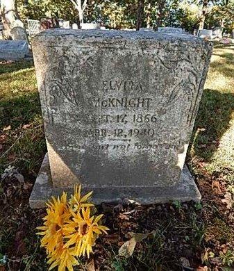 CALDWELL MCKNIGHT, ELVIRA - Shelby County, Tennessee | ELVIRA CALDWELL MCKNIGHT - Tennessee Gravestone Photos