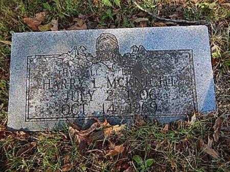MCKNIGHT, HARRY L - Shelby County, Tennessee | HARRY L MCKNIGHT - Tennessee Gravestone Photos