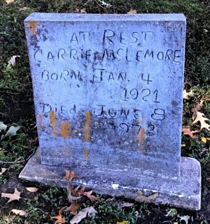 MCLEMORE, CARRIE - Shelby County, Tennessee | CARRIE MCLEMORE - Tennessee Gravestone Photos