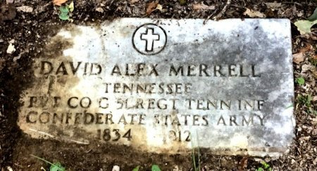 MERRELL (VETERAN CSA), DAVID ALEX - Shelby County, Tennessee | DAVID ALEX MERRELL (VETERAN CSA) - Tennessee Gravestone Photos