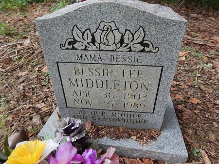 WHITE MIDDLETON, BESSIE LEE - Shelby County, Tennessee | BESSIE LEE WHITE MIDDLETON - Tennessee Gravestone Photos