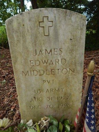 MIDDLETON (VETERAN), JAMES EDWARD - Shelby County, Tennessee | JAMES EDWARD MIDDLETON (VETERAN) - Tennessee Gravestone Photos