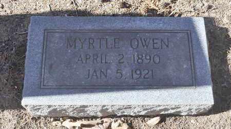 OWEN, MYRTLE - Shelby County, Tennessee | MYRTLE OWEN - Tennessee Gravestone Photos