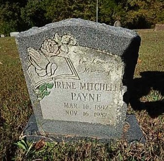 MITCHELL PAYNE, IRENE - Shelby County, Tennessee | IRENE MITCHELL PAYNE - Tennessee Gravestone Photos
