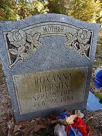 PERSON, ROXANNA - Shelby County, Tennessee | ROXANNA PERSON - Tennessee Gravestone Photos
