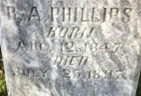 PHILLIPS, R. A. (CLOSE UP) - Shelby County, Tennessee | R. A. (CLOSE UP) PHILLIPS - Tennessee Gravestone Photos