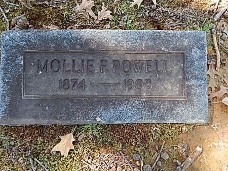 POWELL, MOLLIE F - Shelby County, Tennessee | MOLLIE F POWELL - Tennessee Gravestone Photos