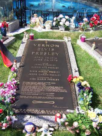 PRESLEY, VERNON ELVIS - Shelby County, Tennessee | VERNON ELVIS PRESLEY - Tennessee Gravestone Photos