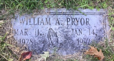 PRYOR, WILLIAM A. - Shelby County, Tennessee | WILLIAM A. PRYOR - Tennessee Gravestone Photos