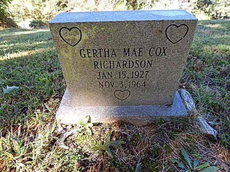 COX RICHARDSON, GERTHA MAE - Shelby County, Tennessee | GERTHA MAE COX RICHARDSON - Tennessee Gravestone Photos