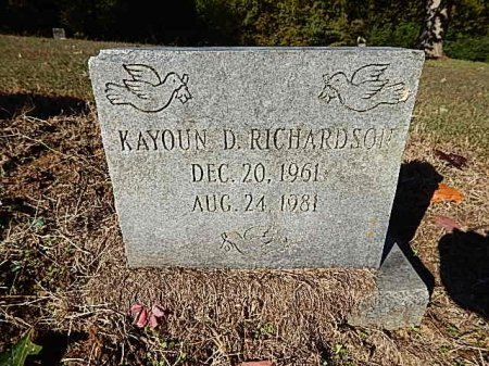 RICHARDSON, KAYOUN D - Shelby County, Tennessee | KAYOUN D RICHARDSON - Tennessee Gravestone Photos